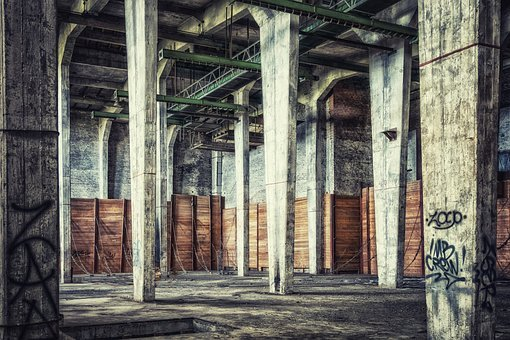 Hall, Lost Places, Huge, Columnar, Pillar, Pforphoto
