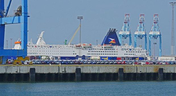 Seaport, Zeebrugge, Kai, Mole, Investors, Ferry