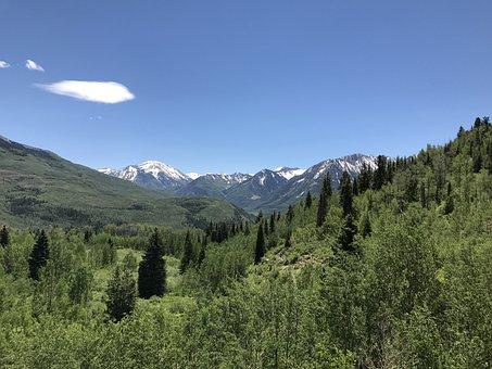 Maroon Bells, Mountains, Colorado, Bells, Maroon