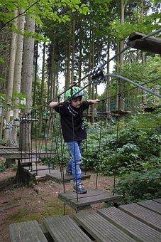 Child, Boy, Play, Climb, Balance, Climbing Garden, Fun