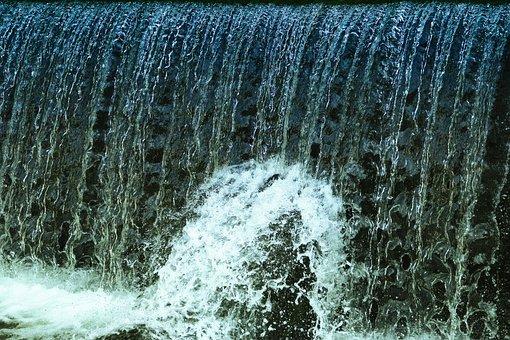 Lock, Waterfall, Liquid, Running Water, Cascade, River