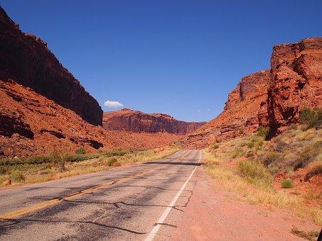 Road, Rock, Travel, Landscape, Highway, Journey, Drive