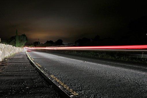 Traffic, Highway, Lighting, Night, Road, Long Exposure