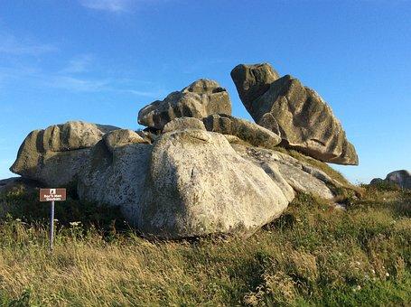 Brittany, Roche, Side, Finistère, Landscape, Nature