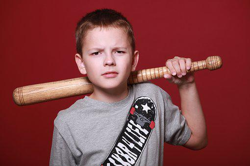 Boy, Teen, Schoolboy, Angry, Bit, Stick
