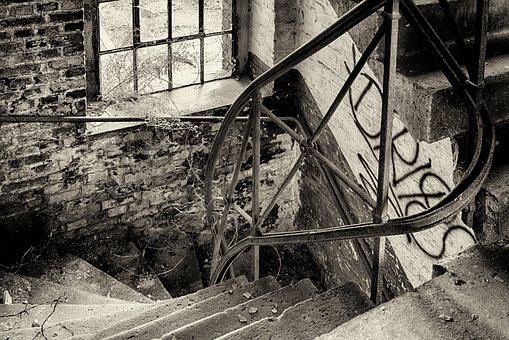 Stairs, Lost Places, Gradually, Pforphoto, Building