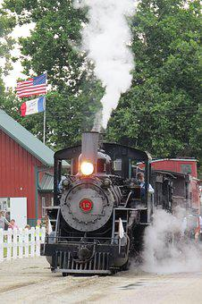 Train, Vintage, Steam, Railroad, Locomotive