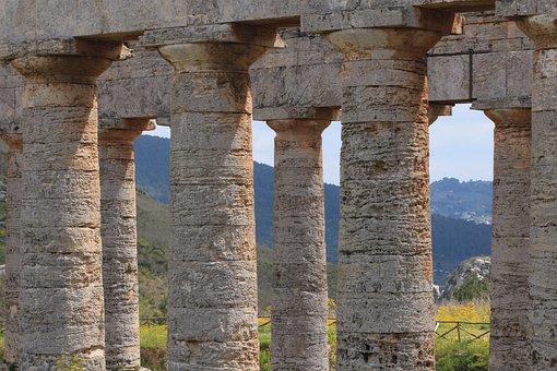 Temple, Sicily, Greek, Italy, Ruin, Architecture