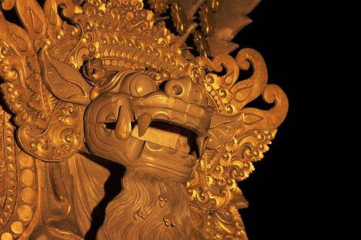Statue, Relief, Temple, Statue Face, Religion, Asia