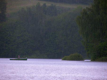 Rain, Boot, Rowing Boat, Background Image, Texture