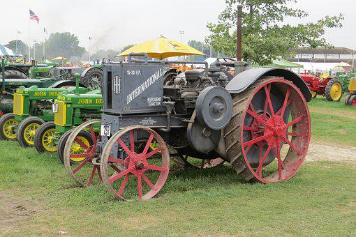 Tractor, Vintage, Machinery, Farm