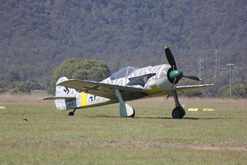 Propeller, Plane, Vintage, Aircraft, Aviation, Sky