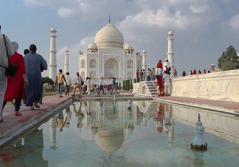 Taj Mahal, India, Monu, Taj, Mahal, Agra, Asia