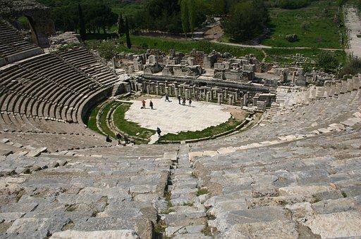 Amphitheater, Turkey, Archeology, Ancient