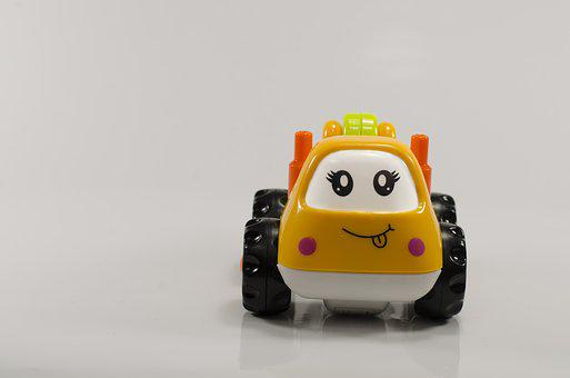 Toy, Car, Child, In Background, Male, Baby, Toy Car