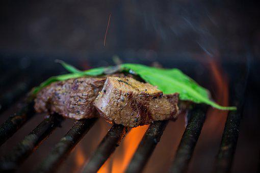 Grill, Meat, Fire, Eat, Bear's Garlic, Spice, Cook
