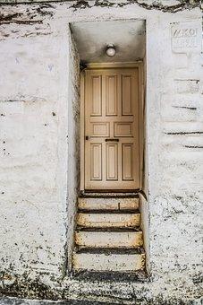 House, Entrance, Stairs, Door, Architecture, Doorway