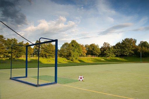Stadium, Field, Gate, Sport, Ball Games, Goal