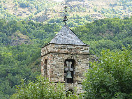 Bell Tower, Romanesque, High Mountain, Pyrenees