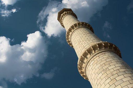 Tajmahal, Minaret, India, Mahal, Architecture, Temple