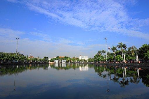 Water, Lake, City, Landscape, Reflection, Nature, Light