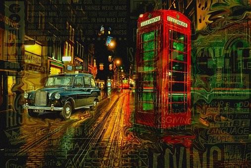 England, Evening, Lights, Night, Night Lights