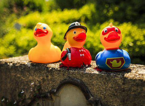 Ducks, Bath Ducks, Fire, Rubber Duck, Squeak Duck, Toys