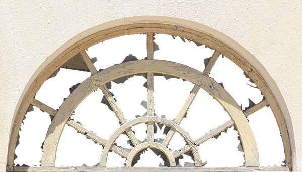 Window, Round Arch, Seedlings, Middle Ages, Old, Facade