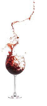 Wine Glass, Spray, Red Wine