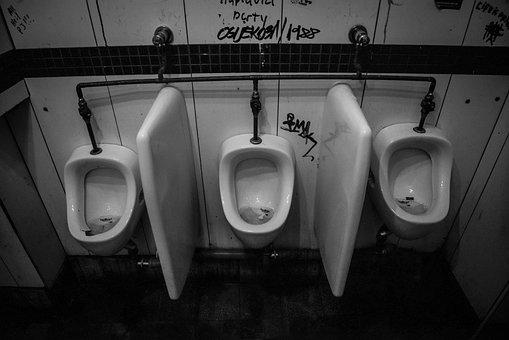 Urinoir, Toilet, Empty, Porcelain, Bathroom, Dirty