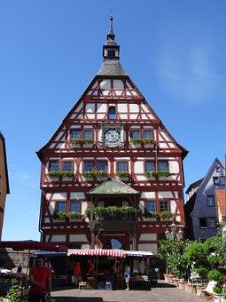 Besigheim, Town Hall, Truss, Wine Village, Enz