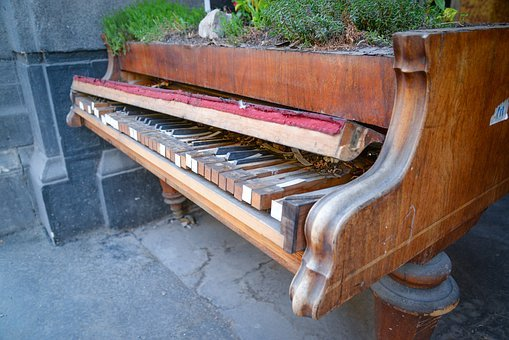 Piano, Broken, Music, Old, Musical, Instrument, Sound