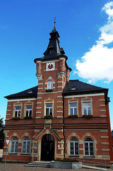 Town Hall, Building, Brick Construction