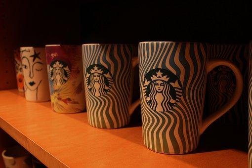 Starbucks, Cups, Shop, Coffe, Labor, Business