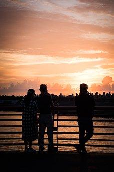 Sunrise, Breakwater, Taiwan, Hualien, Character, 覌 View