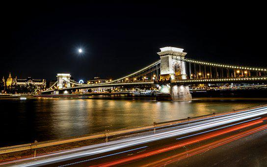 Chain Bridge, Budapest, Bridge, Hungary, River, City
