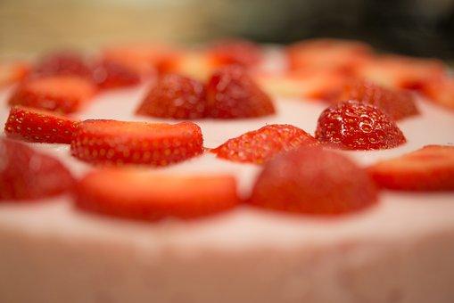 Strawberry, Pie, Sweet, Dessert, Food, Fruit, Delicious