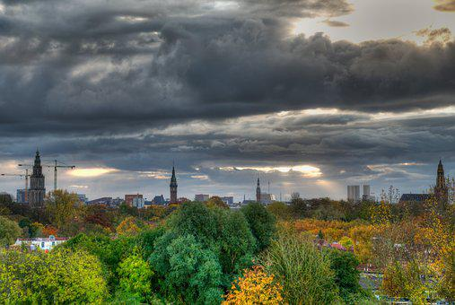 Groningen, City, Downtown, Cityscape, Dutch, Holland