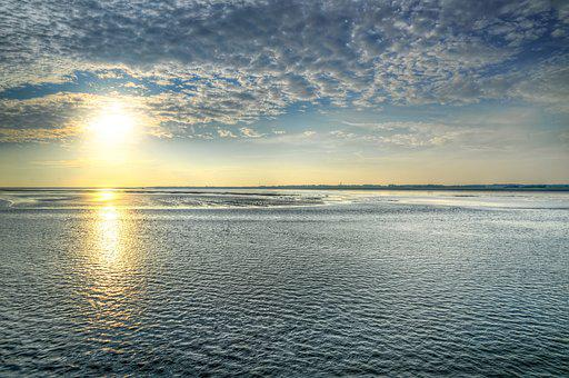 Waddenzee, Low Tide, Scenic, Dutch, Nature, Netherlands