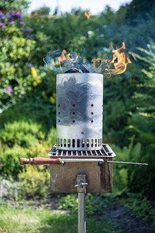 Firestarter, Barbecue, Coal, Glow, Grill, Flame, Fire