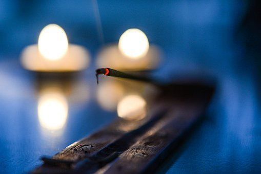 Incense, Glow, Candle, Burn, Religion, Light, Fire