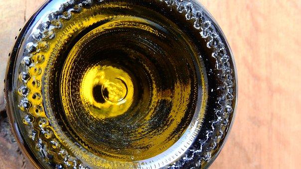 A Bottle Of Wine, Green Bottle, Glass Bottle