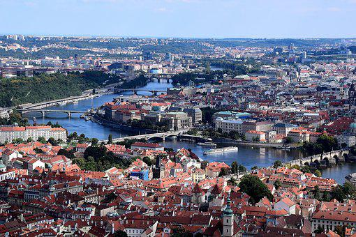 Prague, Viewpoint, Moldova, Bridges, Old Town
