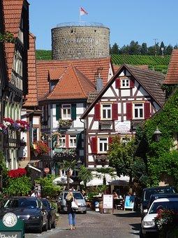 Besigheim, Old Town, Horn Tower, Baden Württemberg, Enz