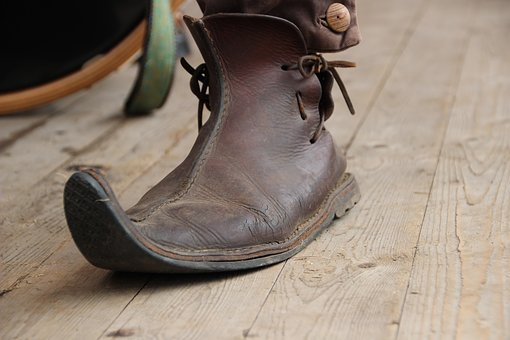 Shoe, Leather, Middle Ages, Old Shoes, Nostalgic