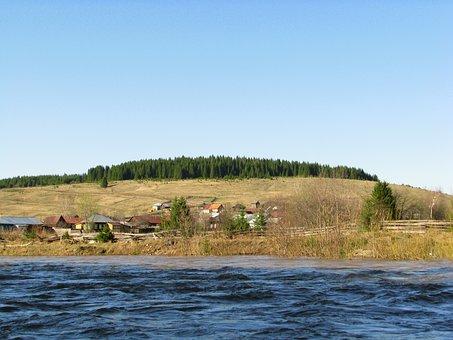 The River Koiva, Perm Krai, Spring, Sky, Russia
