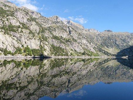 Lake, Reflection, High Mountain, Pond, Pyrenees