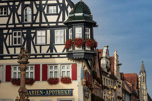 Rothenburg, Fachwerkhaus, Historically, City, Truss