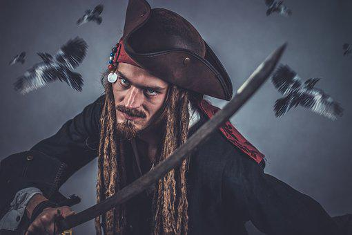 Pirate, Sword, Pirate Head, Seafarer, Outlaw, Thief