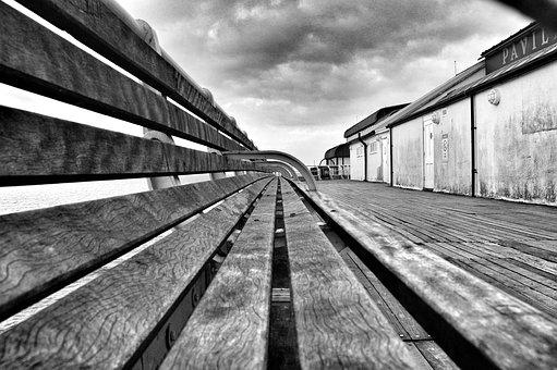 Pier, Bank, Sit, Rest, Decay, Old, Wood